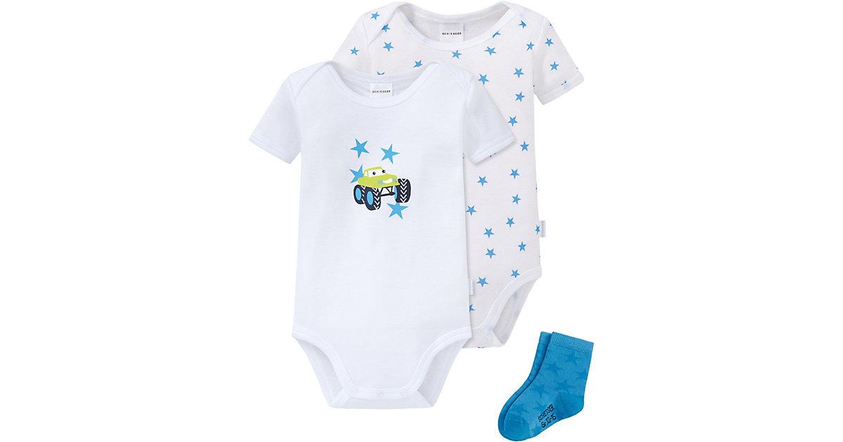 Schiesser · Baby Set Bodys + Socken Gr. 86 Jungen Kleinkinder