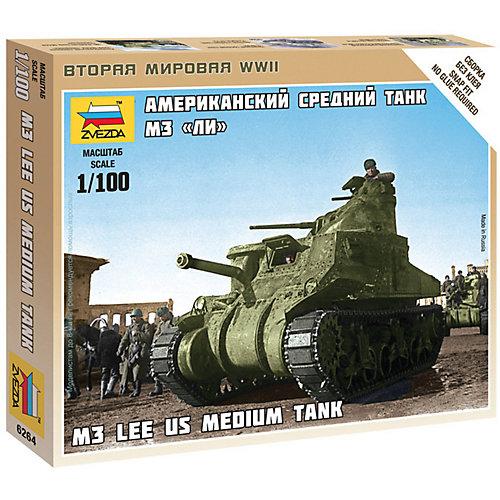 """Сборная модель  Американский средний танк """"Ли"""" М3 от Звезда"""