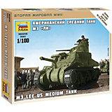 """Сборная модель  Американский средний танк """"Ли"""" М3"""