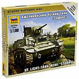 """Сборная модель  Американский лёгкий танк """"Стюарт"""""""