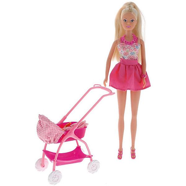 Кукла Штеффи с ребёнком, 29 см,розовая, Simba