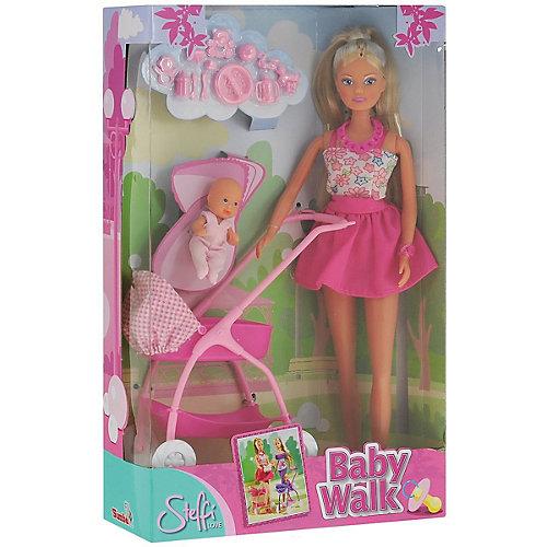 Кукла Штеффи с ребёнком, 29 см,розовая, Simba от Simba