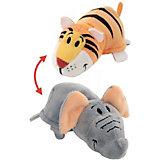 Мягкая игрушка-вывернушка 1Toy Тигр-Слон, 28 см