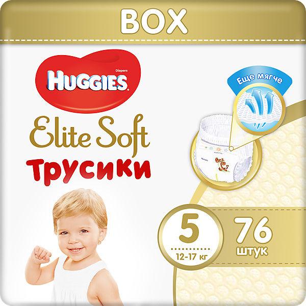 Трусики-подгузники Huggies Elite Soft 5, 12-17 кг, 76 шт.