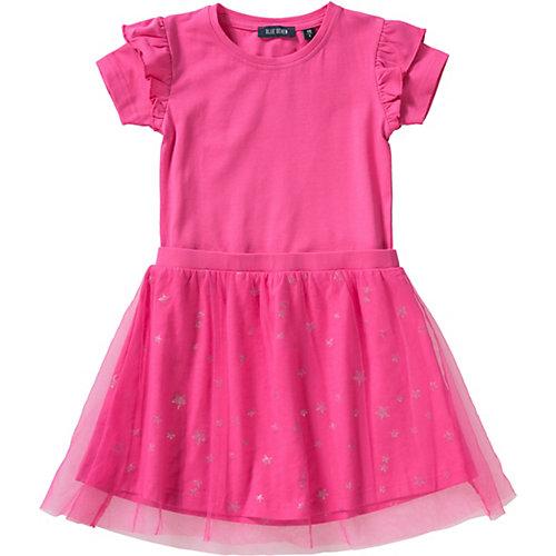Blue Seven Kinder Jerseykleid mit Tüllrock Gr. 92 Mädchen Kleinkinder | 04055852002234