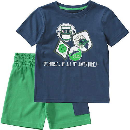 Blue Seven Set T-Shirt + Sweatshorts Gr. 110 Jungen Kinder | 04055851986030