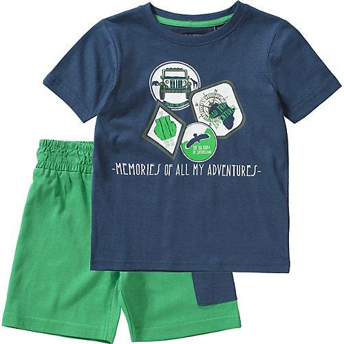 BLUE SEVEN Set T-Shirt + Sweatshorts Gr. 98 Jungen Kleinkinder | 04055851986016