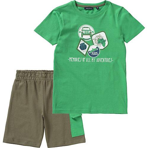 BLUE SEVEN Set T-Shirt + Sweatshorts Gr. 104 Jungen Kleinkinder | 04055851986092
