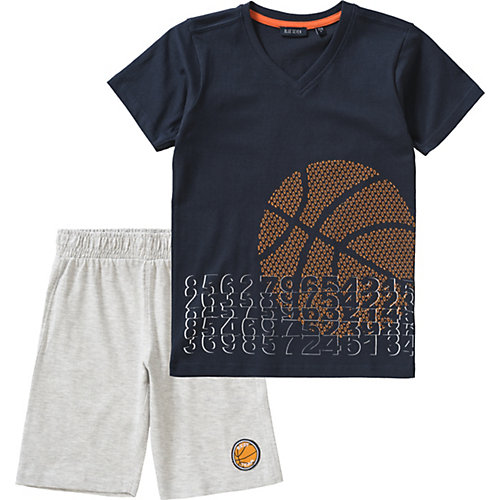 Blue Seven Set T-Shirt + Sweatshorts Gr. 122 Jungen Kinder | 04055852020016
