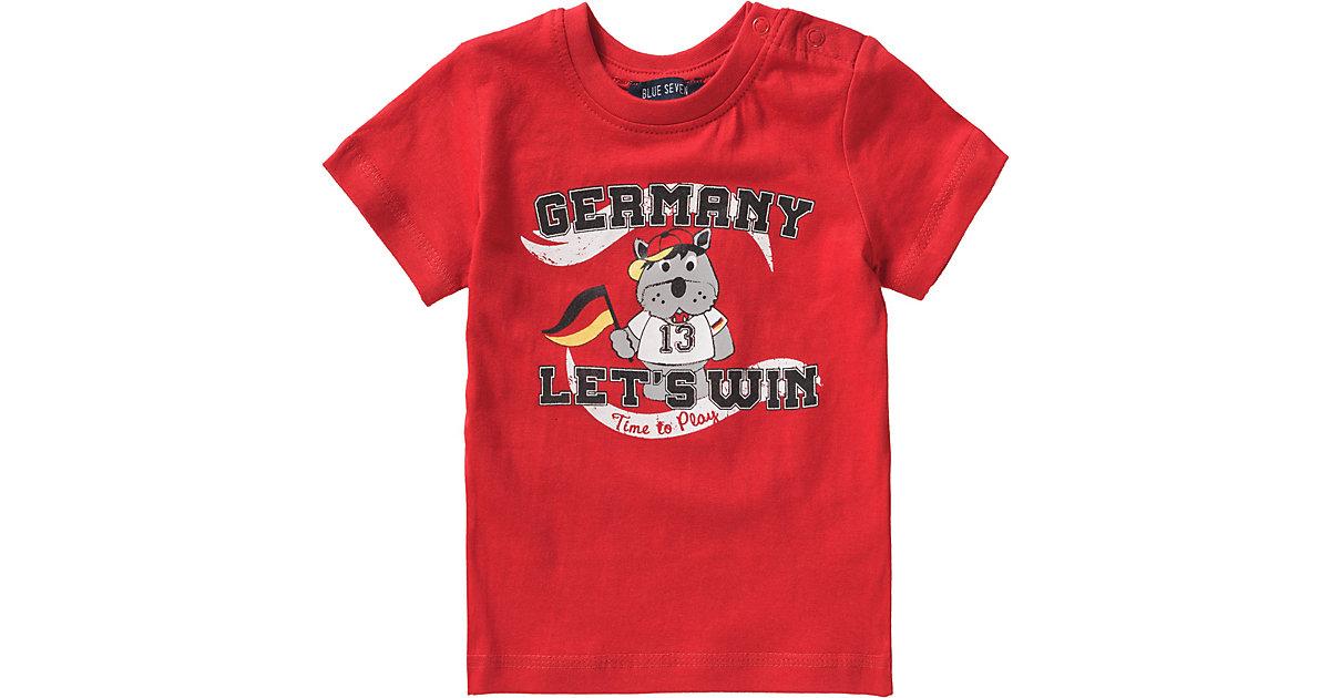 Baby T-Shirt , Fußball rot Gr. 62 Jungen Baby