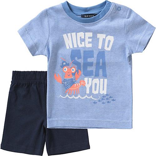BLUE SEVEN Baby T-Shirt + Sweatshorts Gr. 68 Jungen Baby | 04055852110304