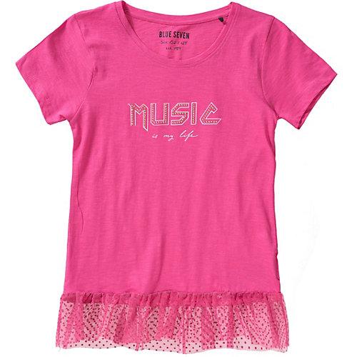 Blue Seven T-Shirt mit Mesh-Saumen Gr. 140 Mädchen Kinder   04055852095144