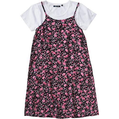 Blue Seven Kinder Set Jerseykleid + T-Shirt Gr. 152 Mädchen Kinder | 04055852049772