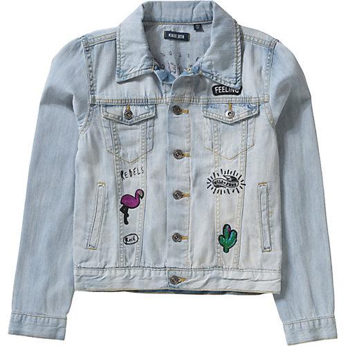 Blue Seven Jeansjacke mit Patches Gr. 176 Mädchen Kinder   04055852022201