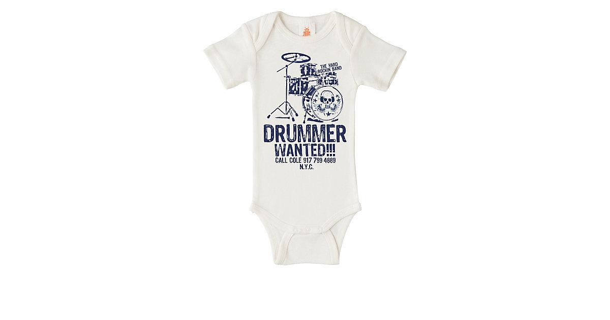 Logoshirt Body Drummer Wanted mit coolem Motiv Strampler offwhite Gr. 98/104   Unterwäsche & Reizwäsche > Bodies & Corsagen > Shirtbodys   Logoshirt®
