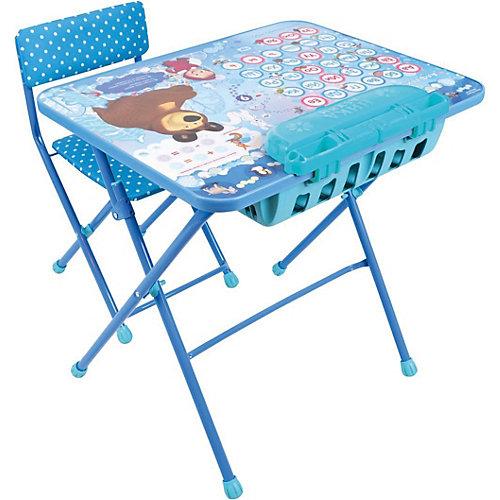 """Комплект мебели Nika Kids """"Маша и Медведь"""" Азбука 4 (большой пенал, мягкое сиденье) от Nika-Kids"""