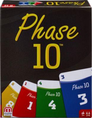 Mattel Games Phase 10,  Kartenspiel, Gesellschaftsspiel, Familienspiel, Kinderspiel, Mattel Games