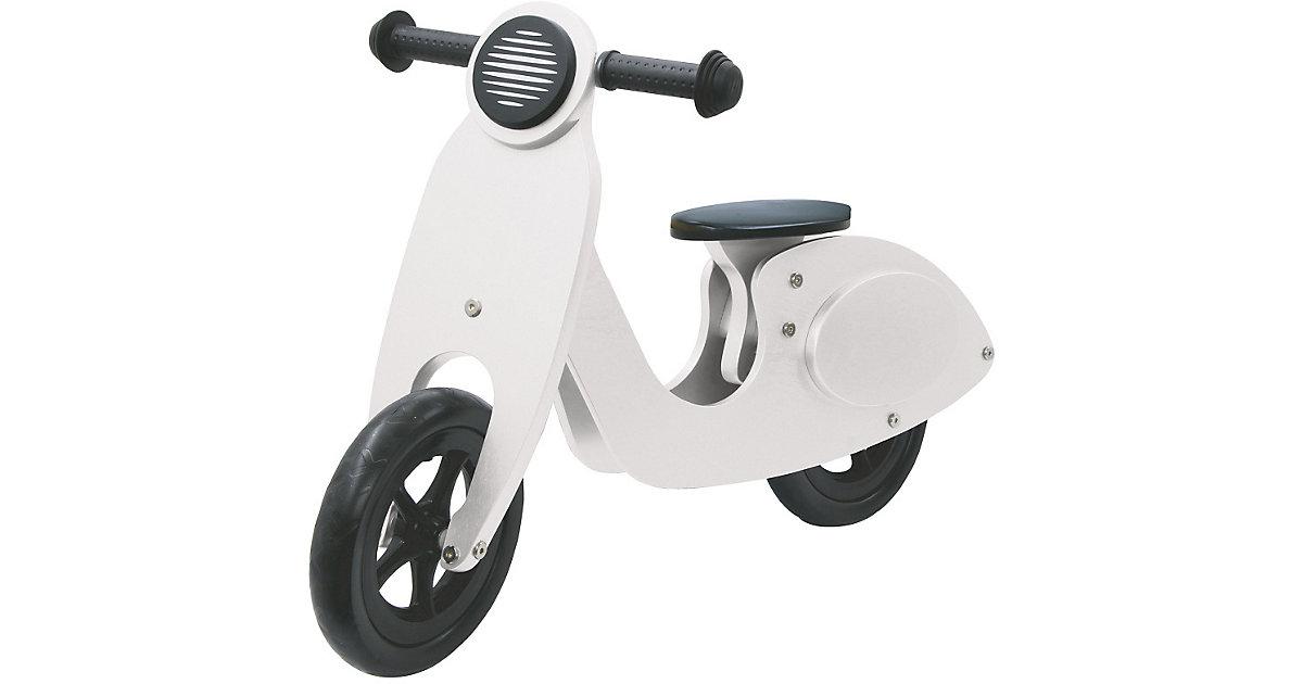 Laufrad Holz Roller weiß