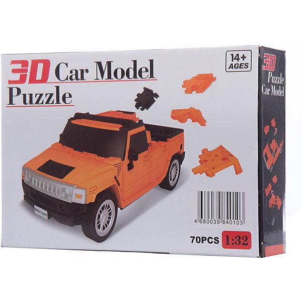 3Д-пазл Автомобиль (оранжевый)