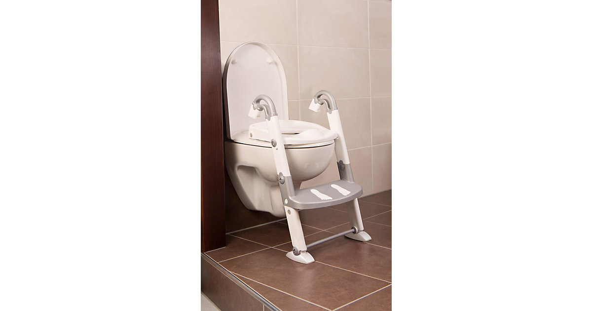 KidsKit · Toilettentrainer 3 in 1, silbergrau / weiß