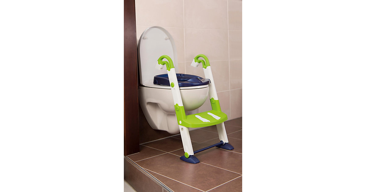 KidsKit · Toilettentrainer 3 in 1, perl blue / weiß / translucent limette