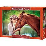 """Пазл Castorland """"Девушка и лошадь"""" 500 деталей"""