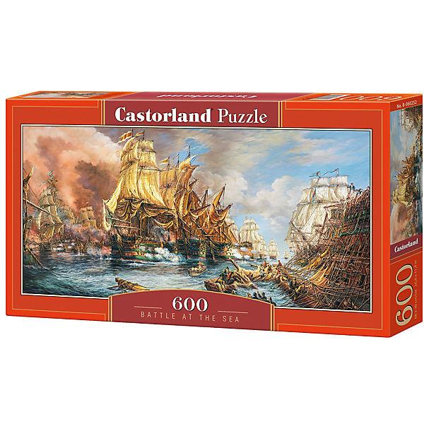 """Пазл Castorland """"Битва на море"""" 600 деталей"""
