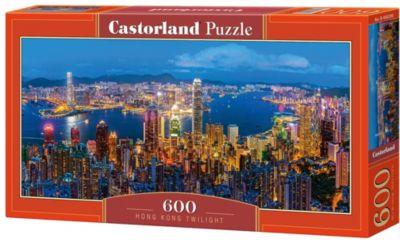 """Пазл Castorland """"Сумерки в Гонконге"""" 600 деталей"""
