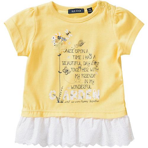 Blue Seven Baby T-Shirt mit Spitze Gr. 80 Mädchen Kleinkinder   04055852042469