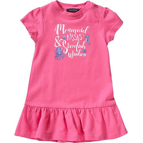 Blue Seven Baby Jerseykleid Gr. 74 Mädchen Baby | 04055852011885