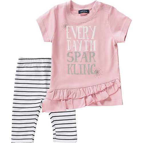 Blue Seven Baby Set T-Shirt + Caprileggings Gr. 80 Mädchen Kleinkinder   04055852012707