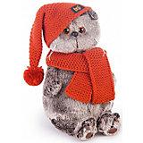 Мягкая игрушка Budi Basa Кот Басик в вязаной шапке и шарфе, 22 см
