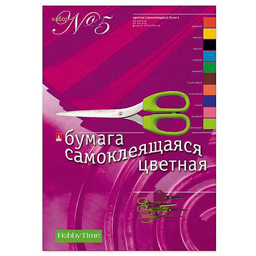 Набор цветной бумаги № 5 Альт А4, 10 листов (свмоклеющаяся) от Альт