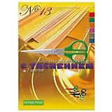Набор цветной бумаги № 13 Альт А4, 7 листов (тонированная с фактурным тиснением)