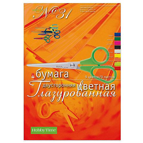 Набор цветной бумаги № 31 Альт А4, 9 листов (двухсторонняя, глазурированная) от Альт