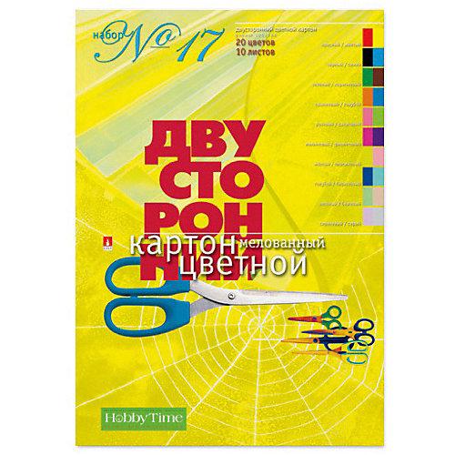 Набор цветного картона № 17 Альт А4, 10 листов (двухсторонний) от Альт