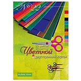Набор цветного картона № 22 Альт А4, 10 листов (двухсторонний)