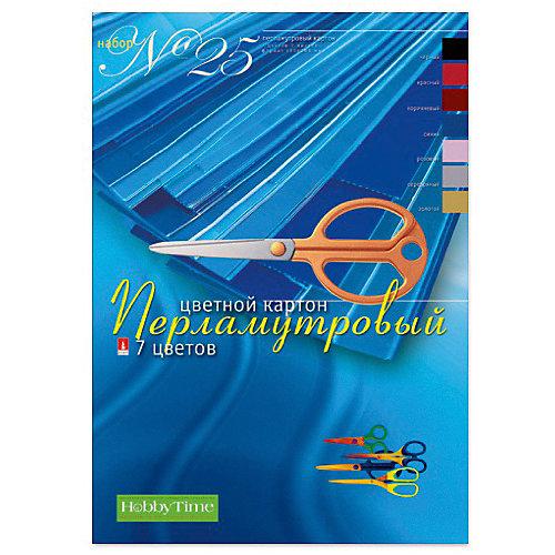 Набор цветного картона № 25 Альт А4, 7 листов (перламутровый) от Альт