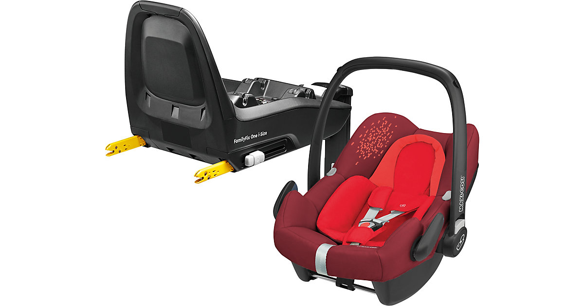 Maxi-Cosi · Babyschale Rock, Vivid Red, inkl. Basis FamilyFix One i-Size Gr. 0-13 kg