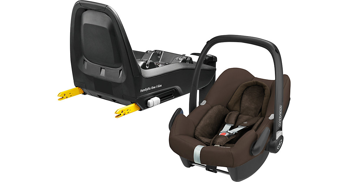 Maxi-Cosi · Babyschale Rock, Nomad Brown, inkl. Basis FamilyFix One i-Size Gr. 0-13 kg