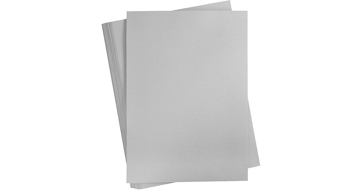 Karton, farbig, A2 420x600 mm,  180 g, Stahlgrau, 100 Blatt