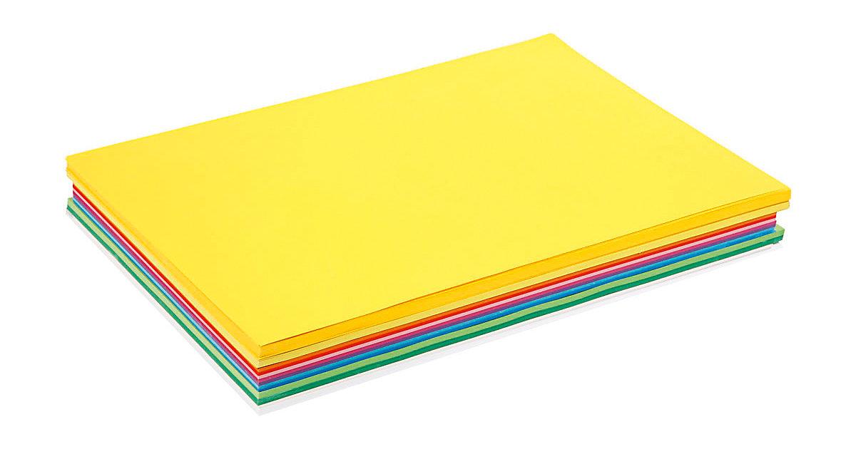 Karton in sortierten Farben, A3 297x420 mm,  180 g, Sortierte Farben, 300 Blatt sort.