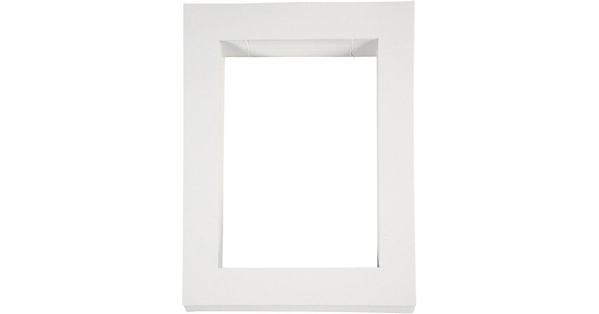 Passepartout-Rahmen, Größe 28,5x37 cm, Bildausschnitt: 19,8x28 cm, Weiß, A4, 100 Stück