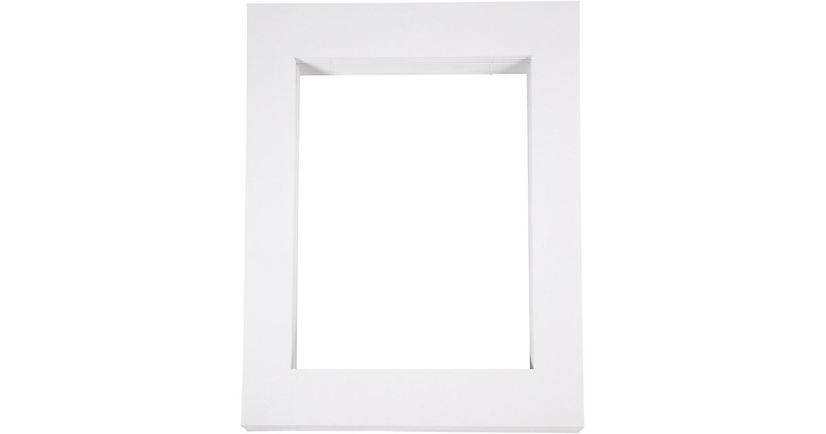 Passepartout-Rahmen, Größe 40x50 cm, Bildausschnitt: 28,5x37 cm, Weiß, A3, 100 Stück