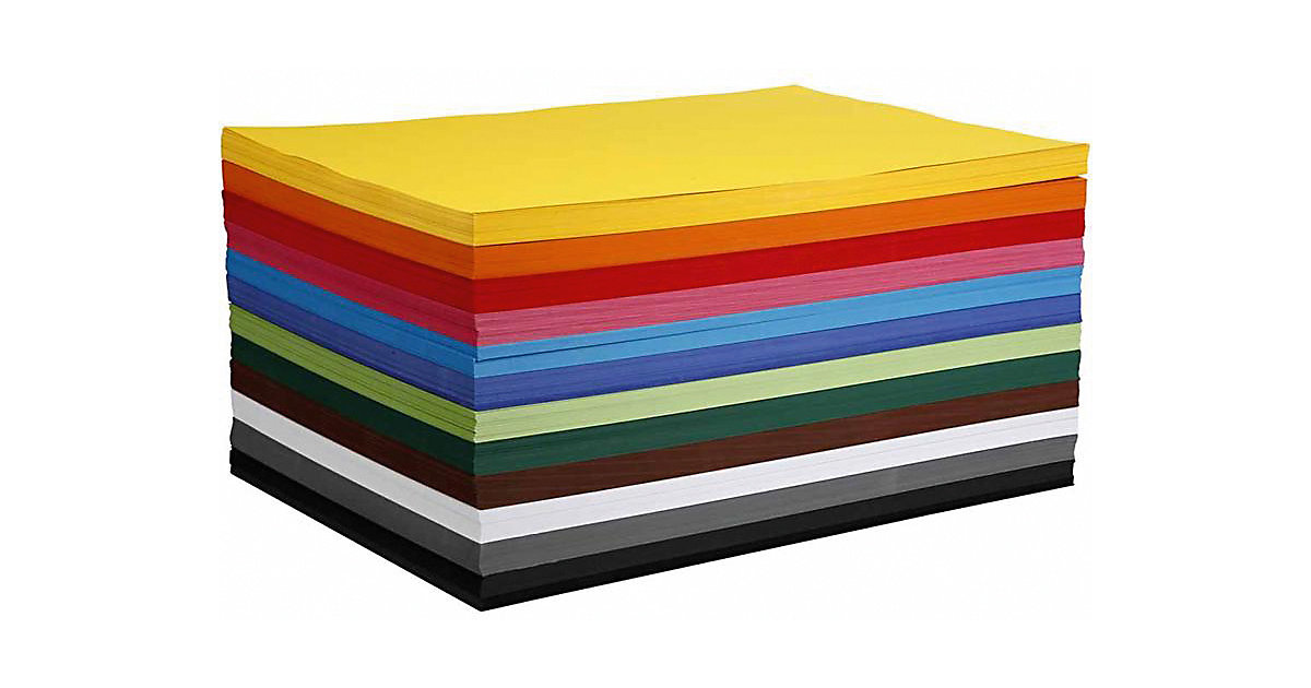 Farbkarton, A2 420x600 mm, 180 g, 120 Blatt sortiert