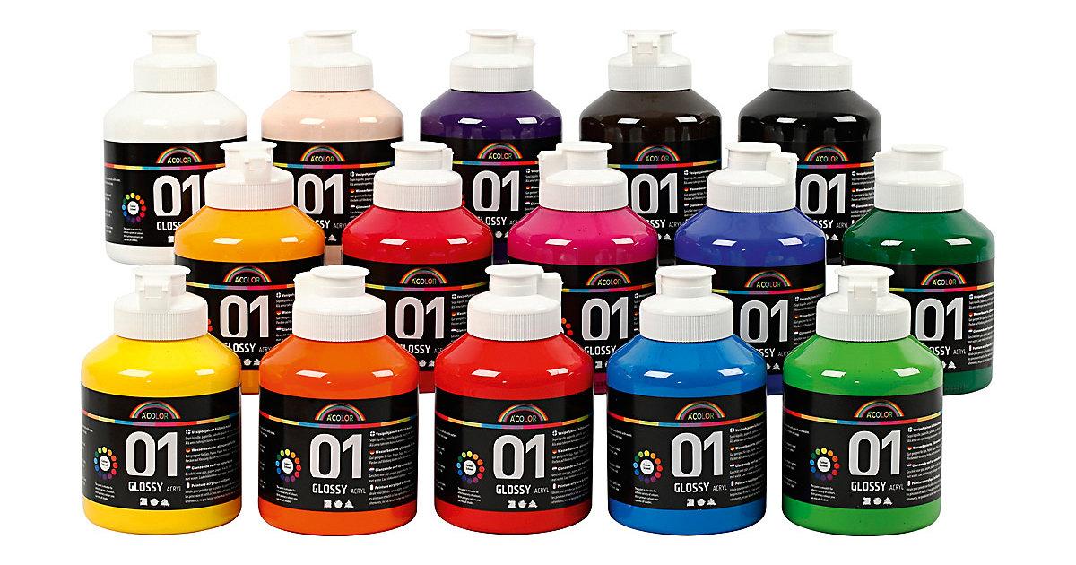 A-Color Acrylfarbe, 01 - Glänzend, 15x500ml