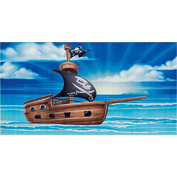 Kinderteppich Piraten Schiff, 80 x 150 cm