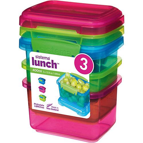 sistema LUNCH Frischhaltedosen Coloured, 400 ml, 3 Stück jetztbilligerkaufen