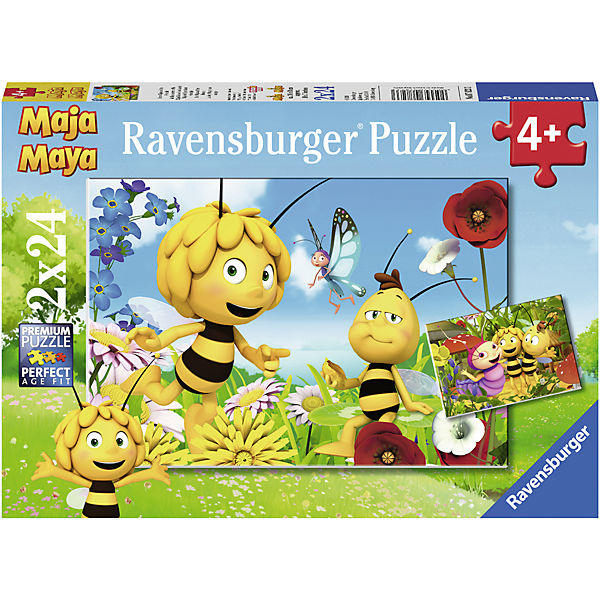 Puzzle 2 x 24 Teile Biene Maja und ihre Freude, Freude, ihre Biene Maja 21af67