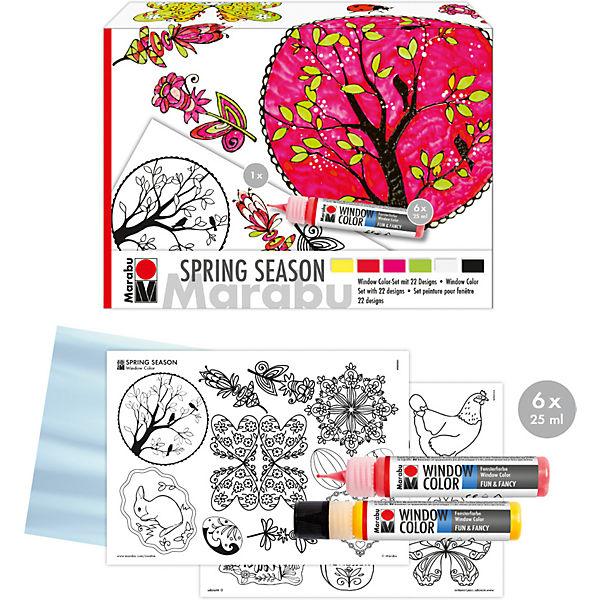 window color set spring season marabu mytoys. Black Bedroom Furniture Sets. Home Design Ideas
